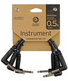 D'Addario / Planet Waves PW-CGTP-305 Classic Series Instrument Cables, 6 Inch, Pack of 3