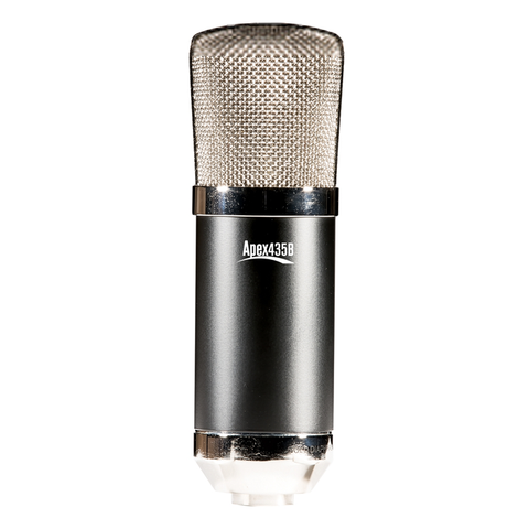 APEX 435B Large Diaphragm Studio Condenser Microphone, Black