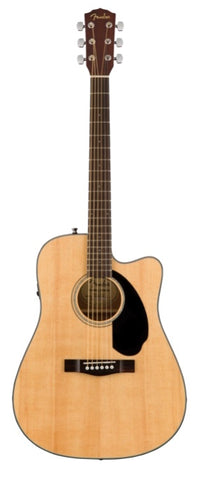 Fender CD-60SCE Dreadnought Cutaway Acoustic-Electric - Natural
