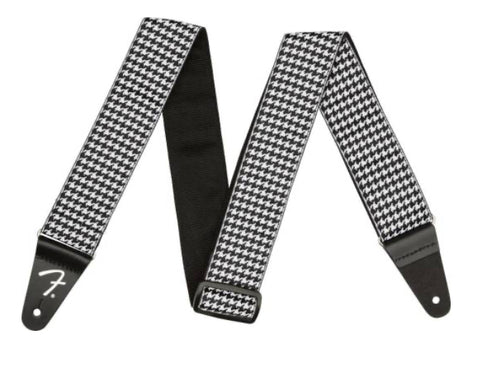 "Fender 2"" Houndstooth Guitar Strap, Black & White"