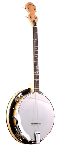 Gold Tone Cripple Creek Tenor Banjo with Resonator, Natural