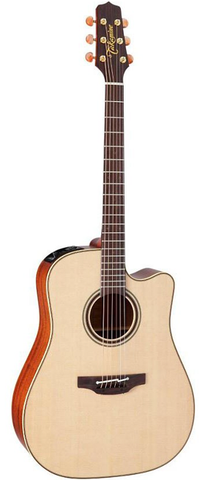 Takamine Pro Series 4 CP4DC-OV Dreadnought Cutaway Acoustic-Electric Guitar, Gloss Natural