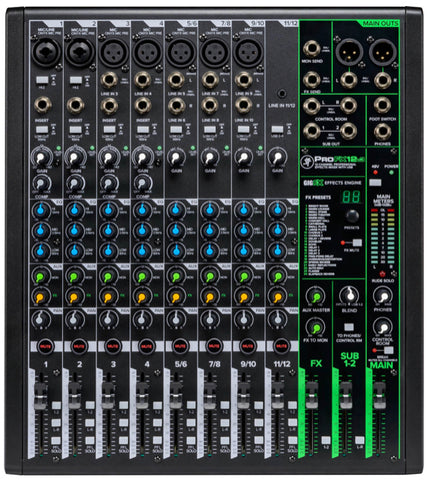 Mackie PROFX12 (V.3) 12-Channel Professional Mixer with Effects & USB