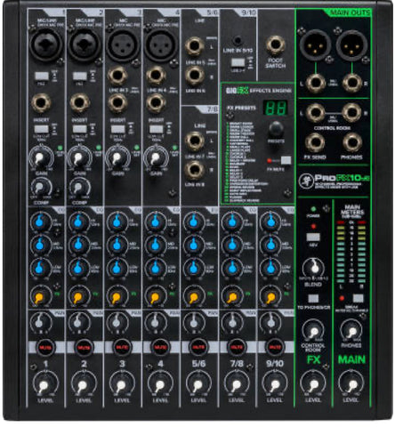 Mackie PROFX10 (V.3) 10-Channel Professional Mixer with Effects & USB