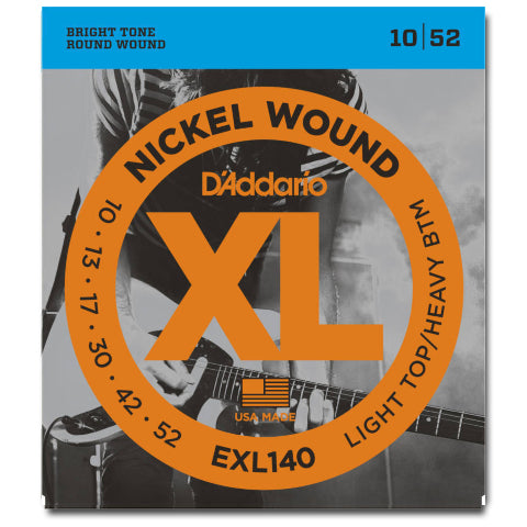 D'Addario EXL140 Nickel Wound Electric Strings, Light Top / Heavy BTM