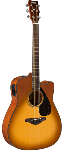 *Yamaha FGX800CSDB Dreadnaught Acoustic-Electric Cutaway, Sand Sunburst