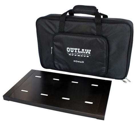 "Outlaw Effects NOMAD Rechargeable Powered Pedal Board M128: Size 19 ¼"" x 11"""