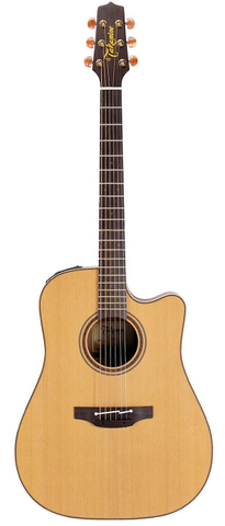 Takamine Pro Series P3DC Dreadnaught Acoustic-Electric Guitar, Natural