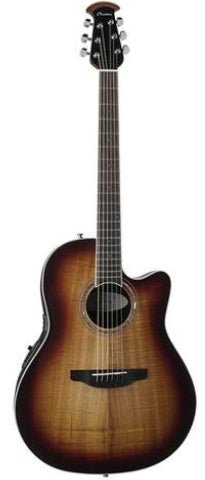 Ovation CS28P-KOAB Celebrity Plus Super Shallow Acoustic/Electric Guitar - Koa Burst