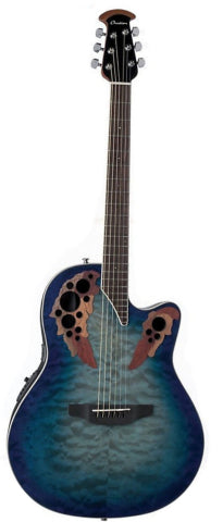 Ovation CE48P-RG Celebrity Elite Exotic Super Shallow Acoustic/Electric - Caribbean Blue/Natural Burst