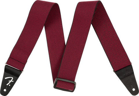 "Fender 2"" WeighLess Tweed Strap, Red"