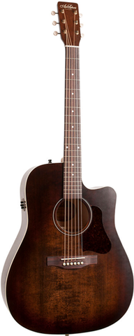 Art & Lutherie Americana Series Dreadnought Cutaway QIT, Bourbon Burst