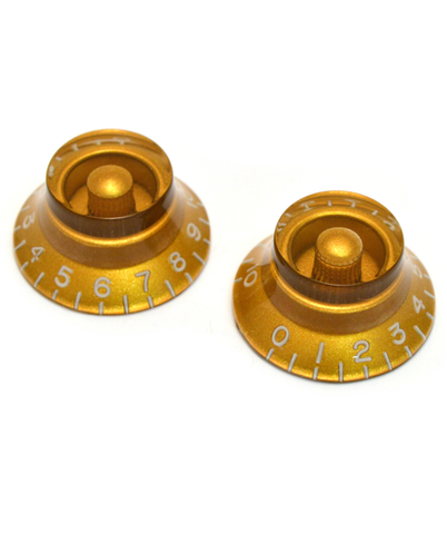 All-Parts Vintage Style Gold Bell Knobs (2 Pack)