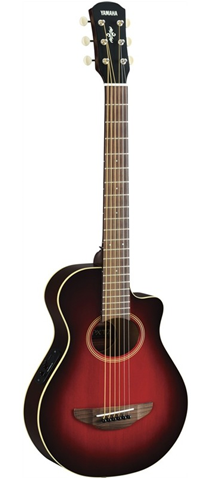Yamaha APXT2 - 3/4 Scale Thinline Acoustic-Electric Cutaway, Dark Red Burst