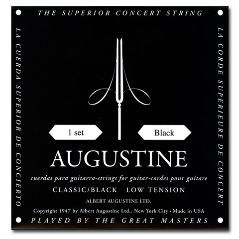 Augustine Black Label Classical Guitar Strings, Light