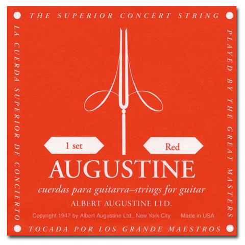 Augustine Red Label Classical Guitar Strings, Medium