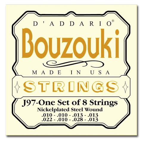 Bouzouki - D'Addario J97 8-String, Nickel Wound Greek Bouzouki Strings