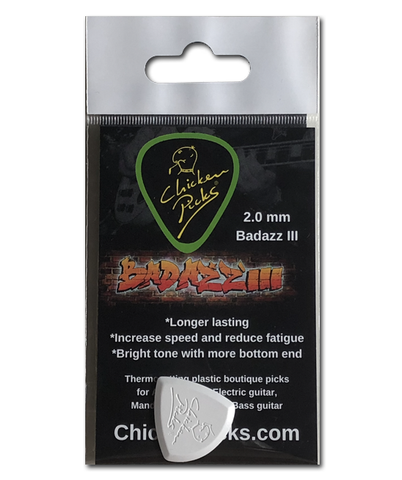 Chicken Picks Tritone III Series Badazz III Single Pick, 2.0mm