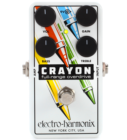 Electro-Harmonix Crayon 76 Full-Range Overdrive Guitar Effects Pedal