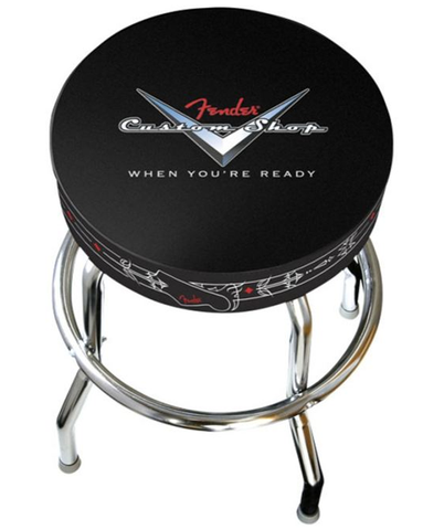 "Fender 24"" Pinstripe Custom Shop Bar Stool with Logo"