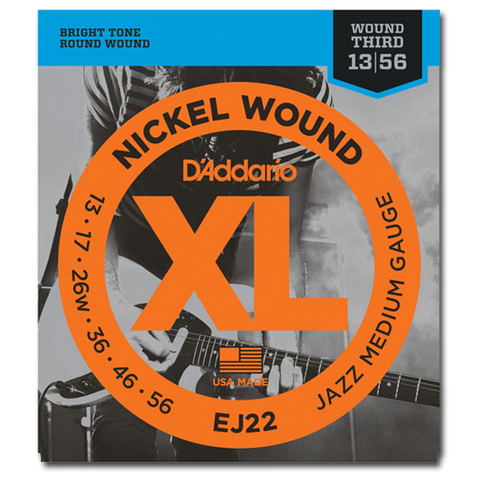 D'Addario EJ22 Nickel Jazz Electric Guitar Strings, Jazz Medium