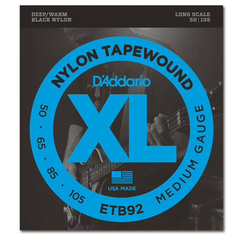 Electric - D'Addario ETB92 Nylon Tapewound Long Scale Bass Strings, Medium