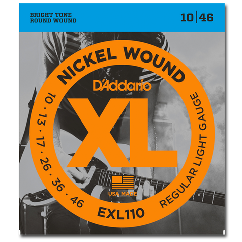 D'Addario EXL110 Nickel Wound Electric Strings, Light