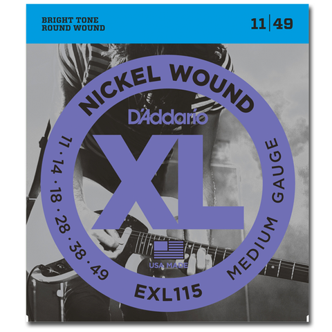 D'Addario EXL115 Nickel Wound Blues/Jazz Rock Electric Strings