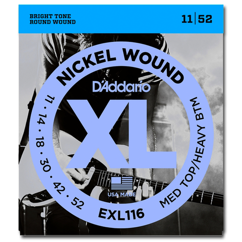 D'Addario EXL116 XL Electric Guitar Strings,  Medium Top / Heavy Bottom