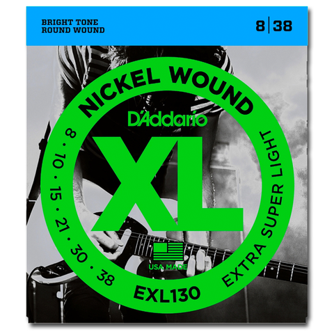 D'Addario EXL130 Nickel Electric Guitar Strings, Extra Super Light