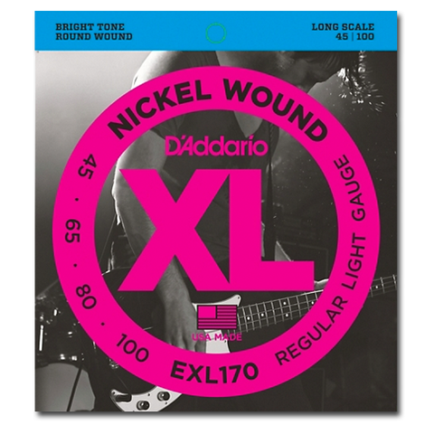 Electric - D'Addario EXL170 XL Nickel Round Wound Long Scale Bass Strings, Regular Light