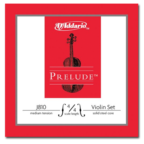 Violin - D'Addario Prelude Violin String Set, 4/4 Scale, Medium Tension
