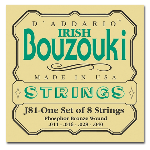 Bouzouki - D'Addario EJ81 8 String, Phosphor Bronze Irish Bouzouki Strings
