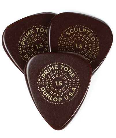 Dunlop Primetone 511P Standard Sculpted Plectra Picks Player Pack (3 Pack) - 1.5mm