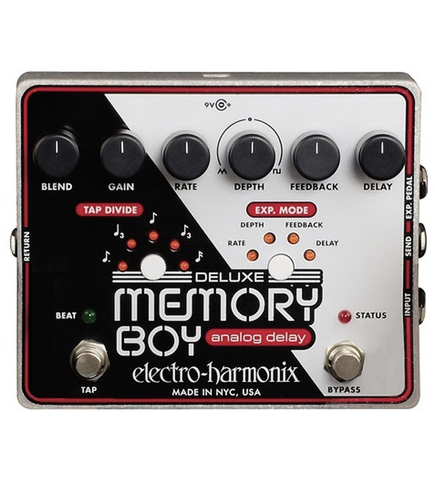 Electro-Harmonix Memory Boy Deluxe Analog Delay with Tap Tempo Guitar Effects Pedal