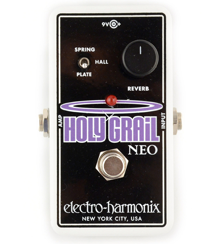 electro harmonix holy grail neo reverb guitar effects pedal reid music limited. Black Bedroom Furniture Sets. Home Design Ideas