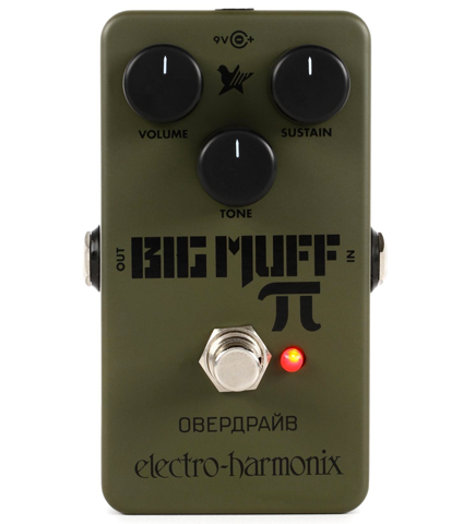 Electro-Harmonix Green Russian Big Muff Pi Fuzz Effects Pedal
