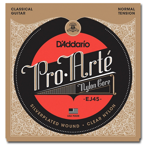 D'Addario Pro•Arté EJ45 Classical Guitar Strings, Normal Tension