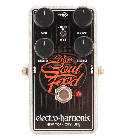 Electro-Harmonix Bass Soul Food Overdrive Guitar Effects Pedal