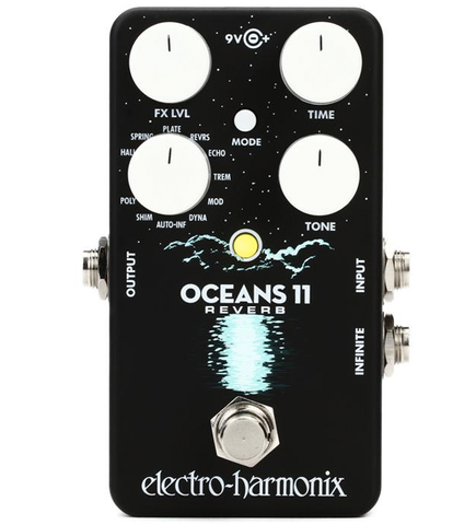 Electro-Harmonix Oceans 11 Reverb Guitar Effects Pedal
