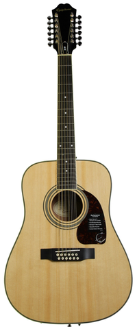 Epiphone DR-212 12 String Acoustic, Natural