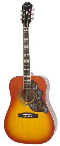 Epiphone Hummingbird Pro Acoustic-Electric, Faded Cherry Burst