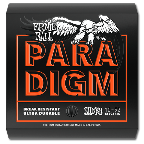 Ernie Ball 2015 Paradigm Skinny Top Heavy Bottom Slinky Electric Guitar Strings, 10 - 52