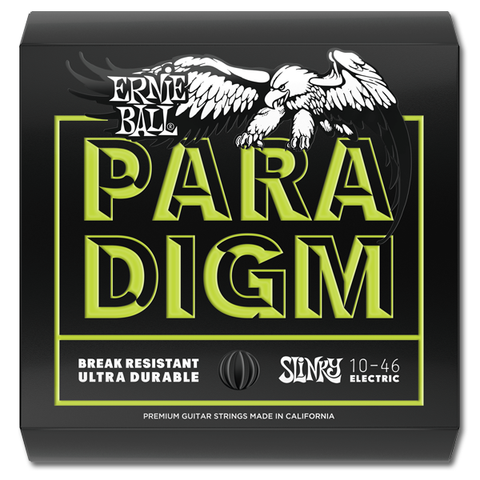 Ernie Ball 2021 Paradigm Regular Slinky Electric Guitar Strings, 10 - 52