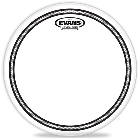 "Evans Level 360 EC2 12"" Clear Tom Batter Head"