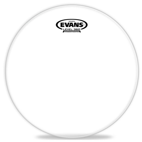 "Evans Level 360 Genera 12"" Clear Resonant Head"