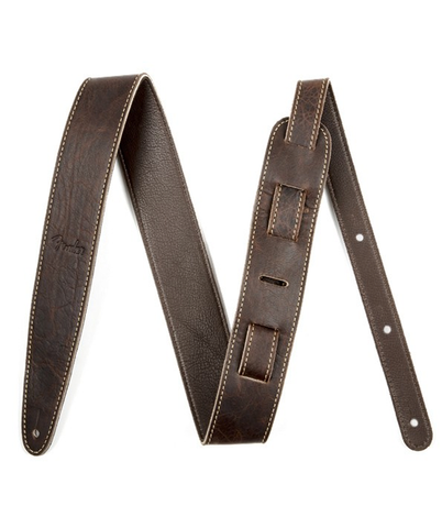 "Fender 2"" Artisan Leather Strap, Brown"