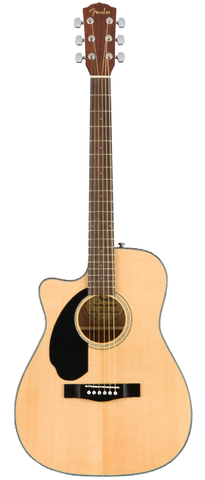 Fender CC-60SCE Concert Size Acoustic-Electric, Natural (Left Handed)