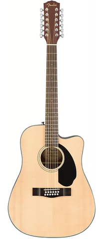 *Fender CD-60SCE-12 Dreadnought Cutaway Acoustic-Electric - Natural - 12 String