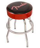 "Fender 24"" Classic Red & Black Knockdown Bar Stool with Logo"